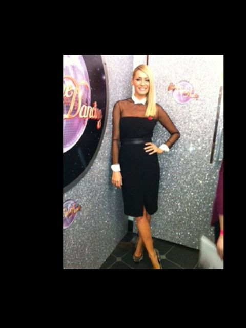 <p>Tess Daly in Paul Smith.</p>
