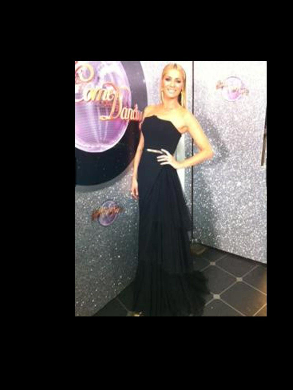 Tess Dalys Strictly Wardrobe Fiction Peplum Dress Purple