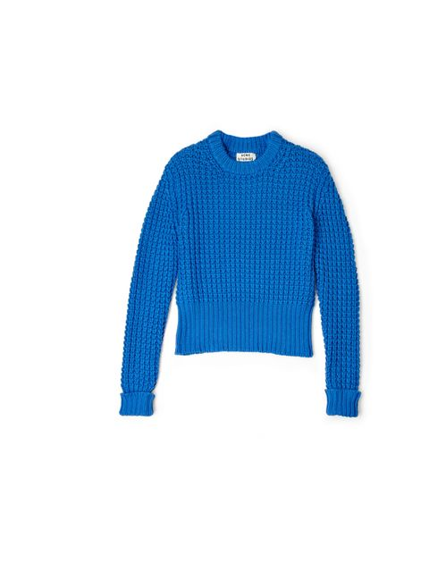 "<p>Revive your knitweasr collection with Acne's stand-out chunky knit... Acne blue waffle knit jumper, £200, at My-Wardrobe.com</p><p><a href=""http://shopping.elleuk.com/browse?fts=acne+jumper+my-wardrobe"">BUY NOW</a></p>"