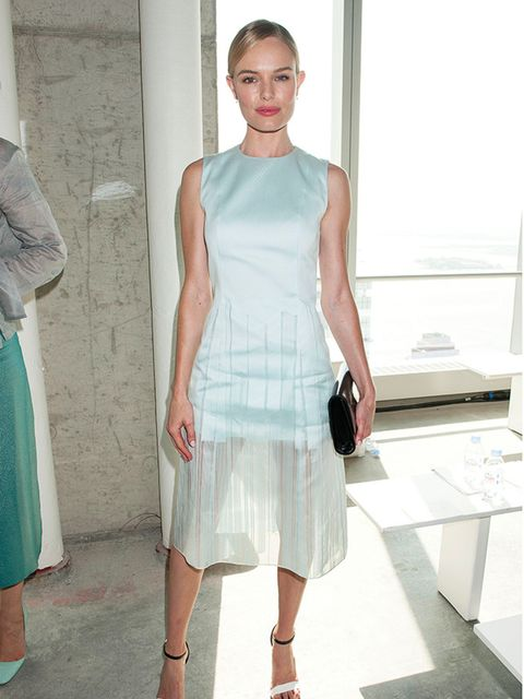 Kate Bosworth wearing Hugo Boss to the Boss Women show Spring Summer 2015 for New York Fashion Week, September 2014.