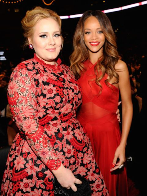 """<p><strong>Adele and Rihanna</strong></p>  <p>There seems to be a mutual girl crush situation going on between Adele and RiRi. """"If Rihanna wanted me, I'd do it with her. She's hot,"""" Adele said. """"She had pinstripe flares on. She whipped them off and there"""