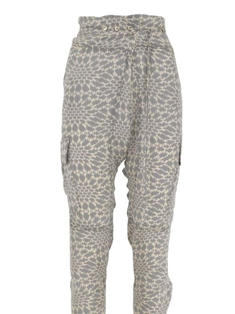 <p>Cream and grey print trousers, £39.50, by Marks and Spencer (0845 302 1234)</p>