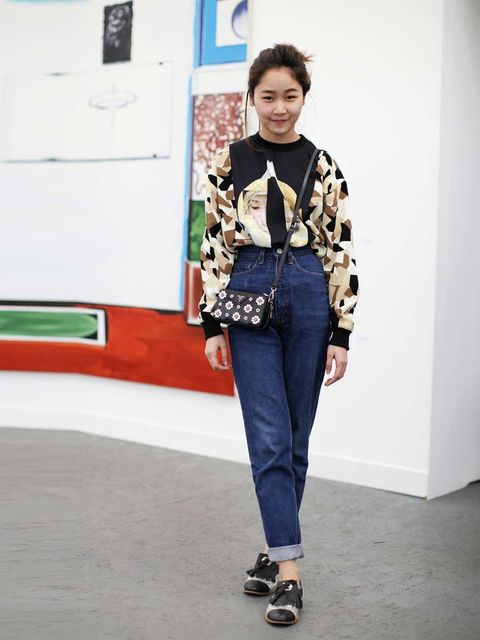 "<p>Pound Nithiyaemolarn&#x3B; From a boutique in Thailand shoes and top&#x3B; Vintage Jeans, Prada bag</p><p><em><a href=""http://www.elleuk.com/star-style/red-carpet/frieze-art-london-2013-kate-moss-tracey-emin"">See the stars at Frieze</a></em></p><p><em><a href=""h"