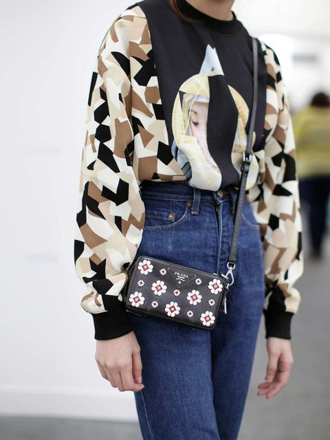 "<p>top from a boutique in Thailand&#x3B; Vintage jeans, Prada bag </p><p><em><a href=""http://www.elleuk.com/star-style/red-carpet/frieze-art-london-2013-kate-moss-tracey-emin"">See the stars at Frieze</a></em></p><p><em><a href=""http://www.elleuk.com/style/stre"