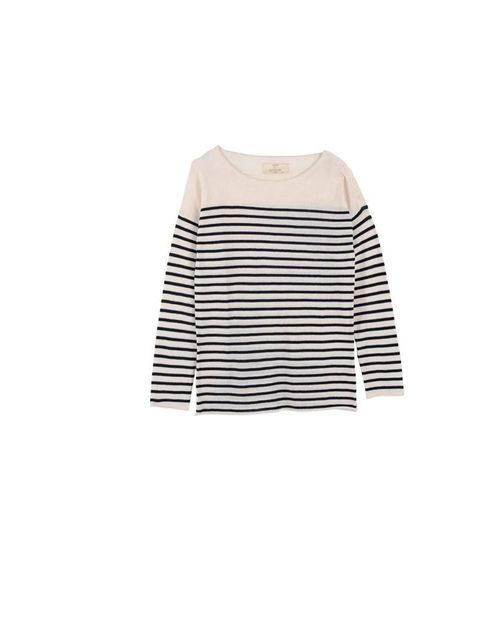 "<p><a href=""http://www.loftdesignby.com/"">LOFT design by...</a>breton stripe sweater, £95</p>"