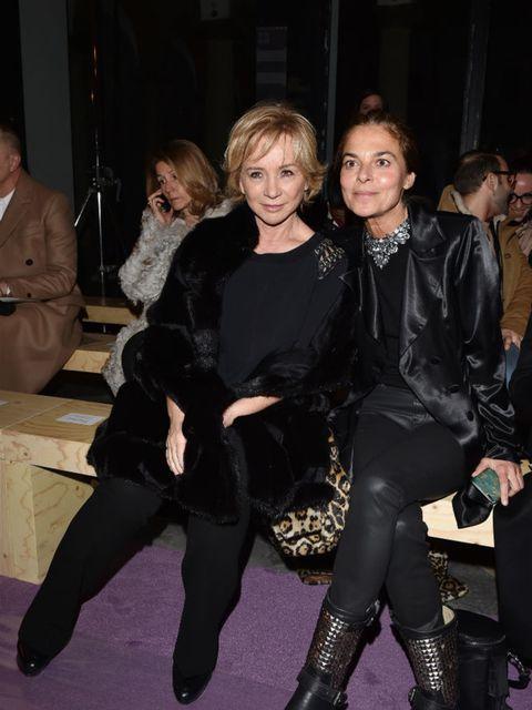 Alberta Ferretti and Cristina Lucchini on Philosophy di Lorenzo Serafini front row during Milan Fashion Week AW16.