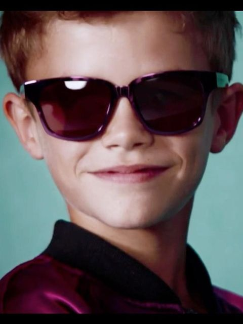 <p>Romeo Beckham models for Burberry</p>