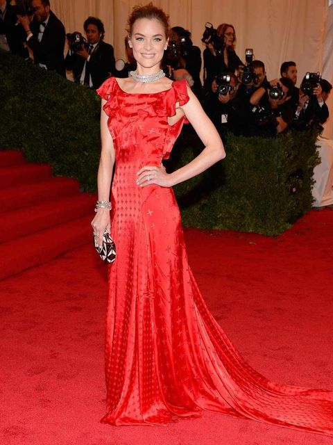 "<p>Jaime King wearing a <a href=""http://www.elleuk.com/catwalk/designer-a-z/unique/autumn-winter-2012"">Topshop</a> dress at The MET Ball 2012</p>"