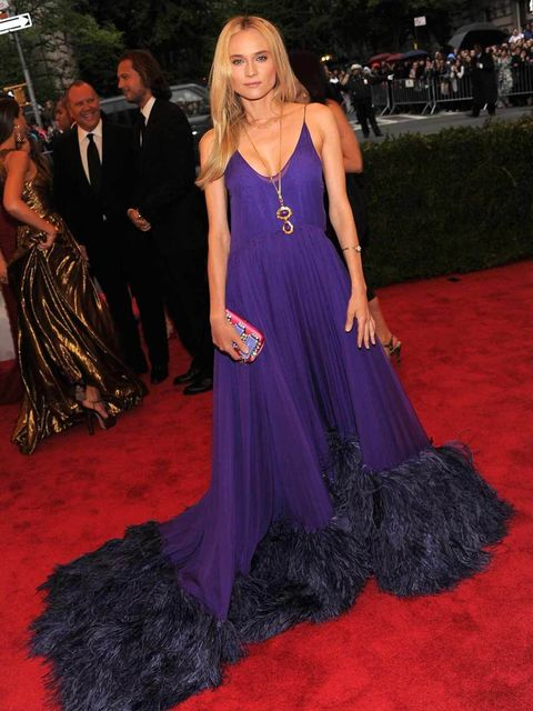 <p>Diane Kruger in a Prada gown at The MET Ball 2012</p>