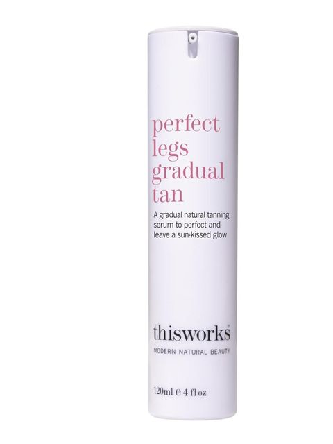 """<p><a href=""""http://www.thisworks.com/perfect-legs-gradual-tan.html"""">This Works</a> Perfect Legs Gradual Tan, £38</p>"""