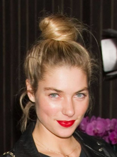 <p><strong>Jessica Hart, Australian Grand Prix Party in Melbourne, March 2011</strong>Jessica's dolly bun is in the exact place Charles Worthington intended it to be worn – this is the closest look to the catwalk version, she's even paired it with red lip