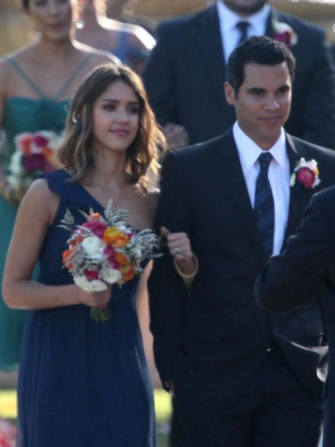 <p>Jessica Alba at a friend's wedding in Beverly Hills, 17 September 2010</p>