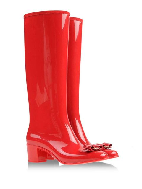 """<p>Salvatore Ferragamo bow front boots, £265 from <a href=""""http://www.shoescribe.com/gb/women/rainboots-wellies_cod44702112sd.html"""" target=""""_blank"""">Shoescribe</a></p>"""