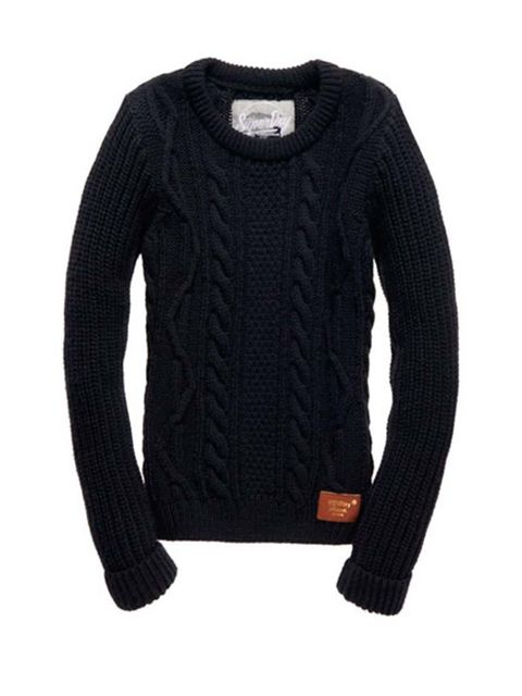 "<p>Digital Director Phebe Hunnicut is adding another layer with this <a href=""http://www.superdry.com/womens/knitwear/details/47818/super-cable-crew-"" target=""_blank"">Superdry</a> cable knit jumper, £59.99.</p>"