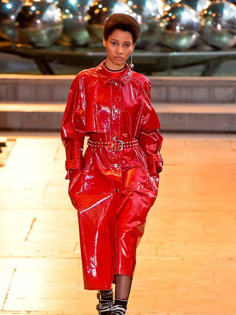 Lineisy Montero in the Isabel Marant Show during Paris Fashion Week, March 2016.