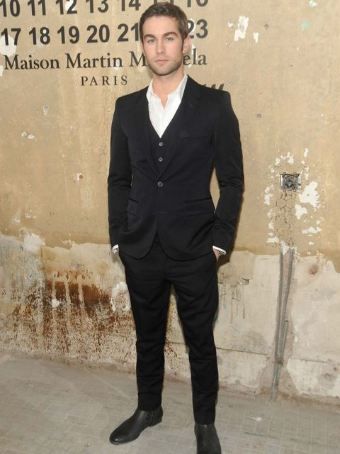 <p>Chace Crawford at the Maison Martin Margiela for H&M launch</p>