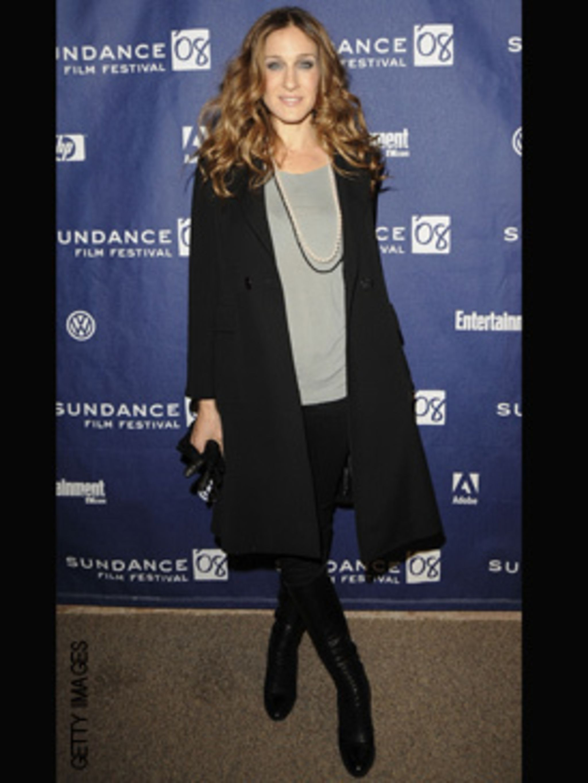 <p>SJP dressing far more herself, than Carrie, and looking uber-chic</p>