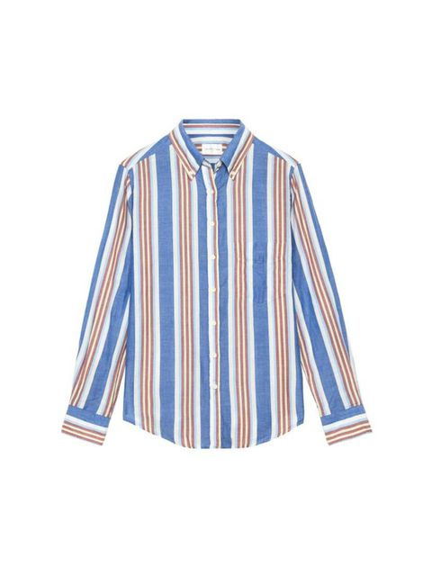 "<p>It's boyish stripes for Freelance Picture Assistant Catherine Pykett.</p>  <p><a href=""http://www.gant.co.uk/womens-shirts/bluegrey-her-madras-shirt/33191"" target=""_blank"">Gant Rugger</a> shirt, £80</p>"