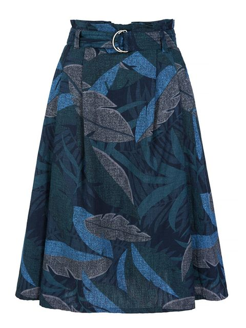 <p>Gap palm print midi skirt, £34.95 available at gap.co.uk</p>
