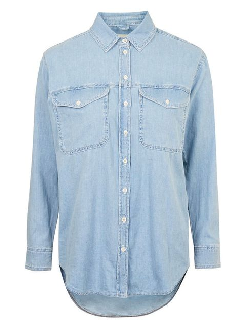 "<p>Topshop oversized denim shirt, £34 available at <a href=""http://www.topshop.com/en/tsuk/product/moto-oversized-denim-shirt-4079058?geoip=noredirect&cmpid=ppc_pla_UK_ip&utm_medium=cpc&tsrc=vdna&istCompanyId=38aa0d7f-6514-4cb3-bbdc-df0d32d48b7f&istItemId"