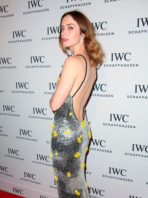 <p>Emily Blunt wears Emilio Pucci at the IWC Watch Collection launch, Miami, December 2014.</p>