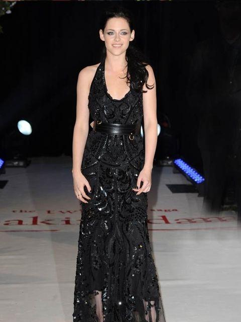 """<p><a href=""""http://www.elleuk.com/starstyle/style-files/(section)/kristen-stewart"""">Kristen Stewart</a> wears a black lace <a href=""""http://www.elleuk.com/catwalk/collections/roberto-cavalli/"""">Roberto Cavalli</a> gown with an <a href=""""http://www.elleuk.com/"""