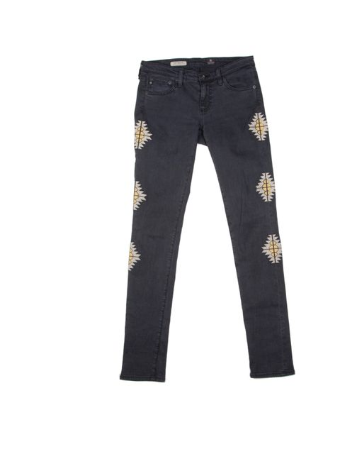 "<p>Fan of the statement jean? Then these are for you… Adriano Golsdchmied black Sante Fe embroidered jeans, £234, at <a href=""http://www.harveynichols.com/"">Harvey Nichols</a></p>"