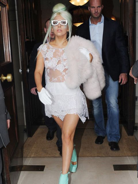 "<p><a href=""http://www.elleuk.com/starstyle/style-files/(section)/lady-gaga"">Lady Gaga</a> wore a <a href=""http://www.elleuk.com/news/fashion-news/simone-rocha-branches-out-on-her-own"">Simone Rocha dress</a> in London on 5 October.</p>"