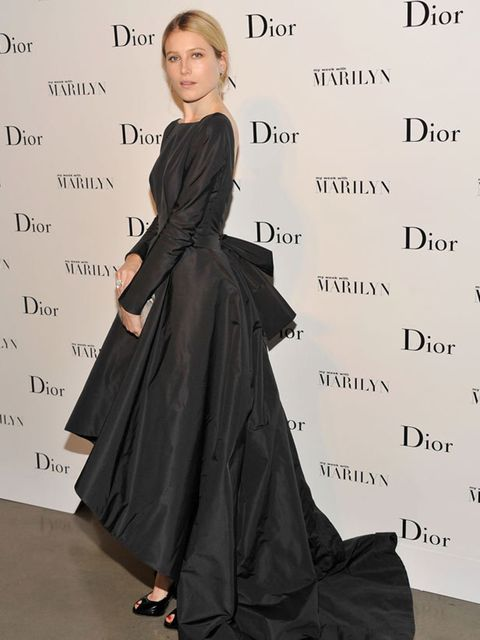 """<p><a href=""""http://www.elleuk.com/starstyle/style-files/(section)/dree-hemingway"""">Dree Heminway</a> in <a href=""""http://www.elleuk.com/catwalk/collections/dior/"""">Dior </a>at the opening of the 'Picturing Marylin' exhibition at the Milk Gallery in New York"""
