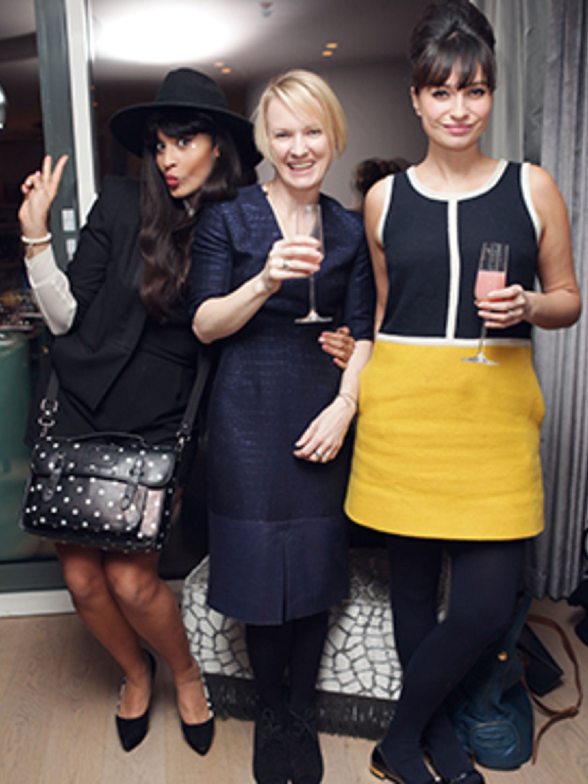 <p>Jameela Jamil, Lorraine Candy and Gizzy Erskine</p>