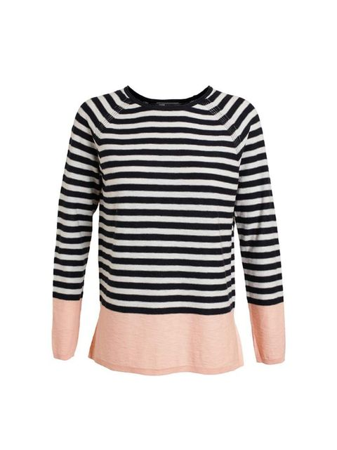 """<p>Layering for the lazy. Ingenious.</p><p>Vince jumper, £140 at <a href=""""http://www.brownsfashion.com/product/01C823760005/194/striped-colour-blocked-raglan-cotton-jumper"""">Browns</a></p>"""