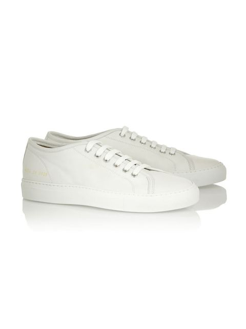 "<p><strong>White Trainers </strong></p>  <p>Box fresh obviously.</p>  <p>Common Projects £250, <a href=""http://www.net-a-porter.com/product/458856/Common_Projects/tournament-leather-sneakers"">Net-a-porter</a></p>"