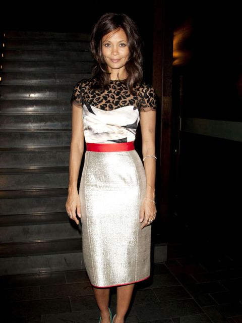 """<p><a href=""""http://cms.elleuk.com/content/search?SearchText=Thandie+Newton+style+file&SearchButton=Search"""">Thandie Newton</a> in new season <a href=""""http://www.elleuk.com/catwalk/collections/giles/"""">Giles</a> at the Death and the Maiden premiere in Lo"""
