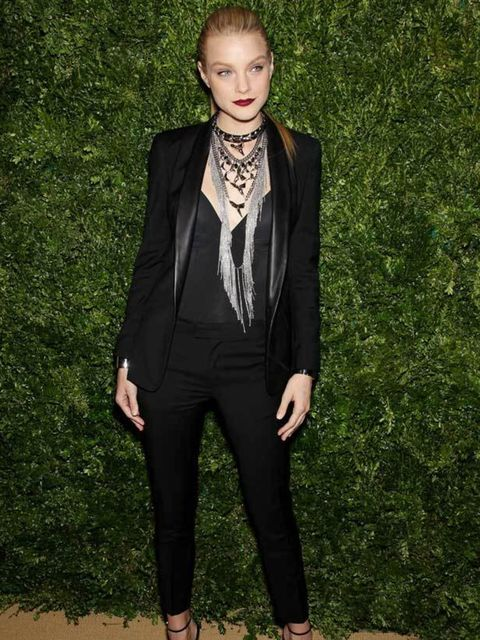 """<p><a href=""""http://www.elleuk.com/content/search?SearchText=Jessica+Stam+style+file&SearchButton=Search"""">Jessica Stam</a> polishes off her sex kitten status with <a href=""""http://www.elleuk.com/content/search?SearchText=christian+louboutin&SearchBu"""