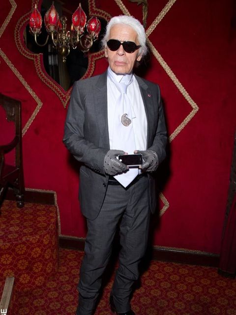 """<p><a href=""""http://www.elleuk.com/content/search?SearchText=karl+lagerfeld&SearchButton=Search"""">Karl Lagerfeld </a>at the Irreverent Dinner hosted by <a href=""""http://www.elleuk.com/content/search?SearchText=Carine+Roitfeld&SearchButton=Search"""">Car"""