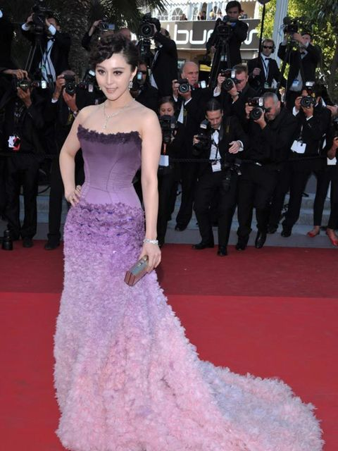 <p>Chinese model & actress Fan Bingbing on the red carpet</p>