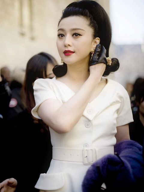 """<p>Fan Bingbing in <a href=""""http://www.elleuk.com/catwalk/collections/dior/"""">Christain Dior</a> at Paris Fashion Week</p>"""