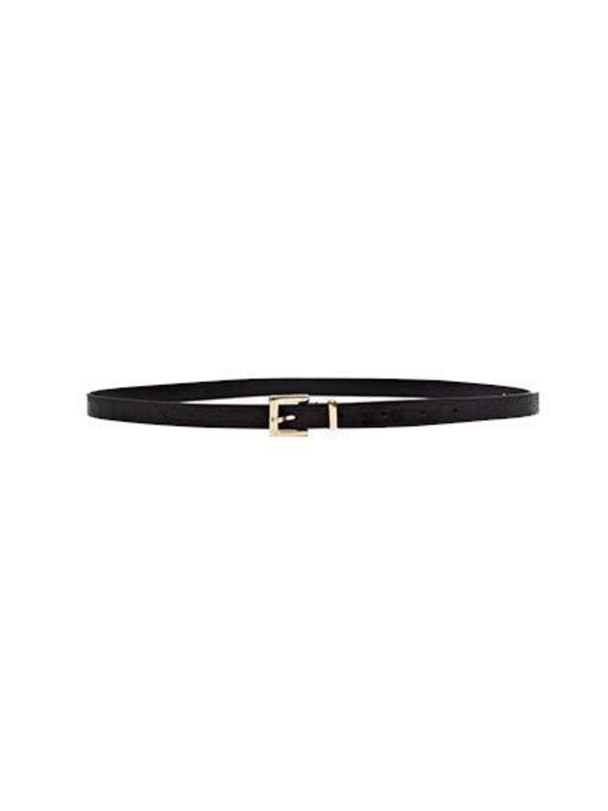"<p><a href=""http://www.frenchconnection.com/product/Woman+New+In/SCCAC/Felix+Skinny+Leather+Belt.htm"">French Connection</a> belt, £30</p>"