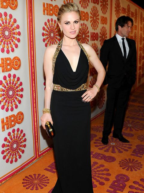 <p>True Blood star Anna Paquin in Alexander McQueen at the 2011 Emmys.</p>