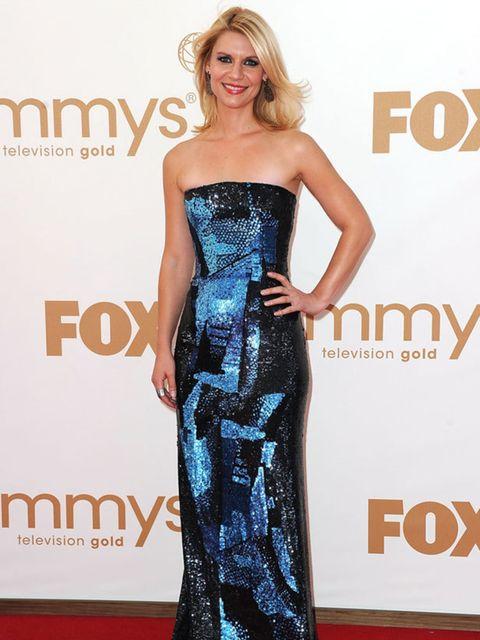 <p>Claire Danes in Oscar de la Renta at the 2011 Emmy Awards.</p>