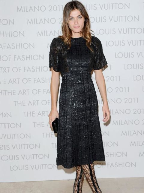 <p>Franca Sozzani attends the opening of Louis Vuitton's 'The Art of Fashion' Exhibition at Milan Fashion Week, 21 September 2011</p>