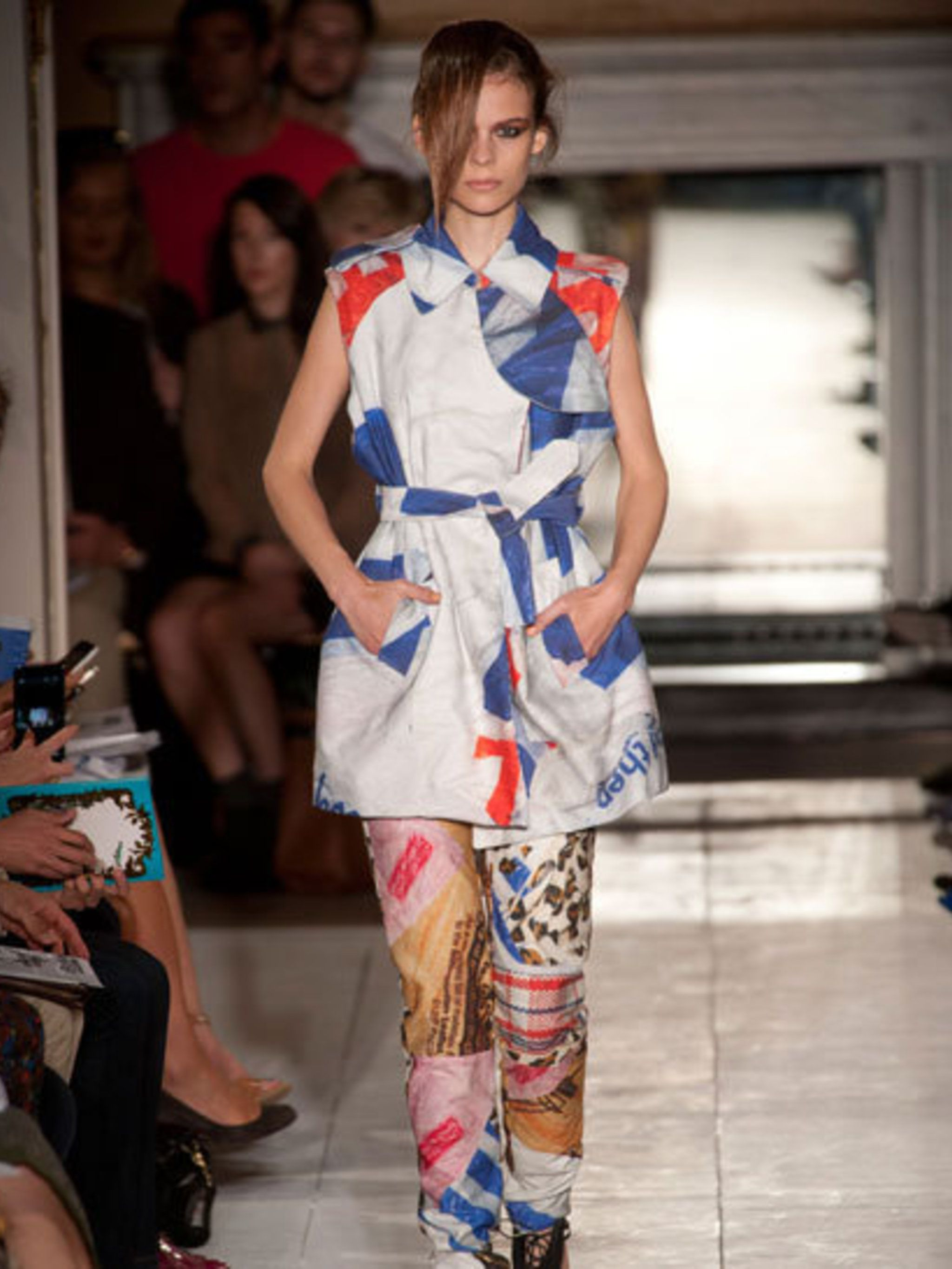 <p>Maarten van der Horst at Fashion East spring summer 2013</p>