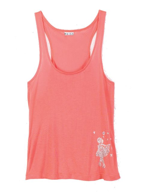 <p>Danielle Hodson's design on a coral Reiss vest.</p>