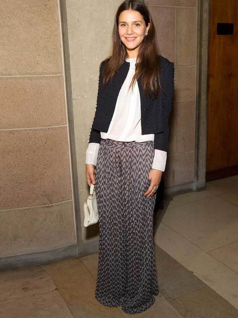 """<p>Margherita Missoni mixing on-tred pyjama style <a href=""""http://www.elleuk.com/catwalk/designer-a-z/missoni/spring-summer-2012"""">Missoni</a> trousers woith a textured jacket</p>"""