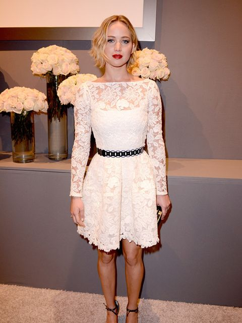 <p>Jennifer Lawrence at American ELLE's 21st Annual Women In Hollywood Celebration, October 2014.</p>