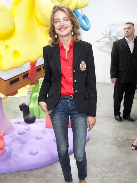 "<p><a href=""http://www.elleuk.com/starstyle/style-files/(section)/natalia-vodianova"">Natalia Vodianova</a> pairs her fringed loafers with skinny jeans and a blazer, October 2011</p>"
