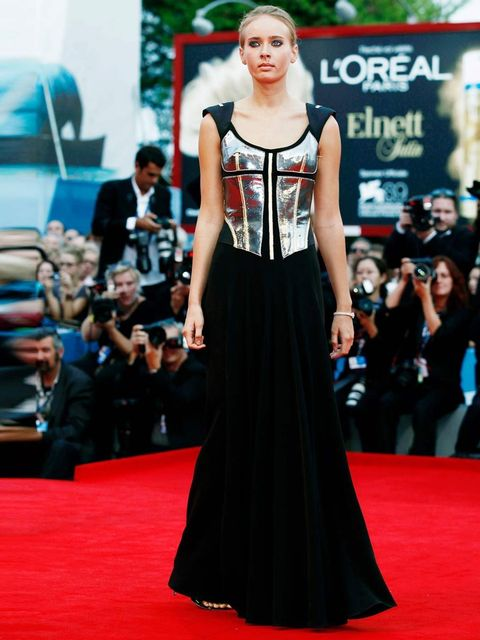 <p>Olga Sorokina at the 'To The Wonder' premier, Venice Film Festival 2012.</p>