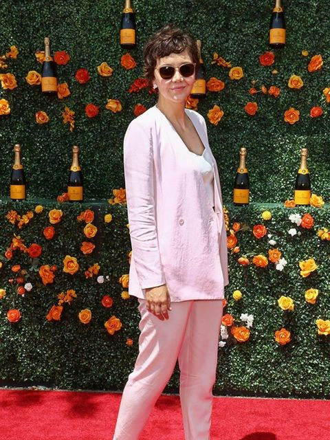 Maggie Gyllenhaal attends the Veuve Clicquot Polo Classic at Liberty State Park, May 2015.