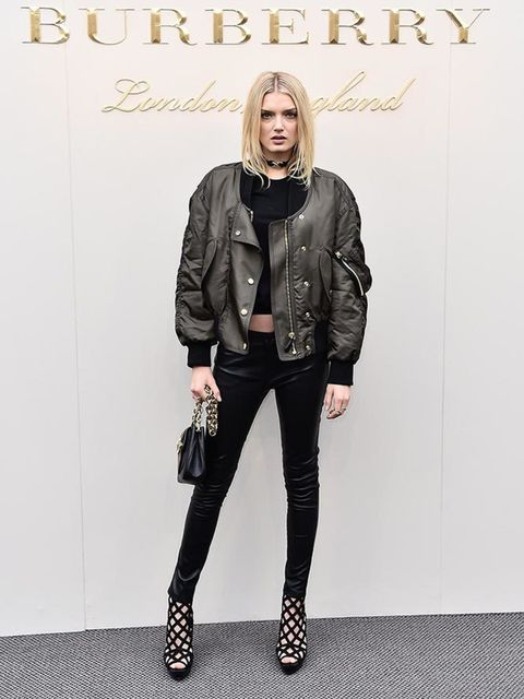 Lily Donaldson at the Burberry AW16 show during London Fashion Week, February 2016.