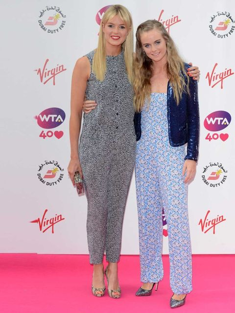 """<p>Cressida Bonas wears a floral jumpsuit, sequined jacket and metallic stilettos as she accompanies her half-sister, Isabella Branson to a pre-Wimbledon party, June 2013.</p><p><em><a href=""""http://www.elleuk.com/star-style/celebrity-style-files"""">More cel"""